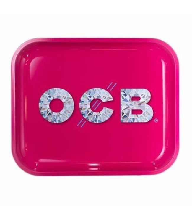 """OCB OCB 14"""" x 12"""" Large Metal Rolling Tray - Diamonds"""