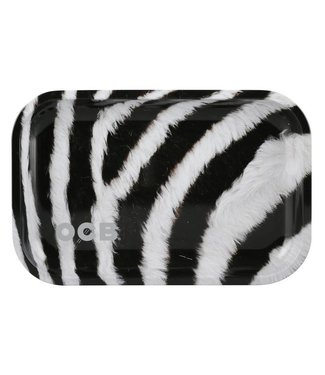 "OCB OCB 11.5"" x 7.5"""" Medium Metal Rolling Tray - Zebra"