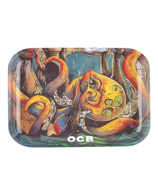 "OCB OCB 11"" x 7.5"""" Medium Metal Rolling Tray - Max Vs Octopus v2"