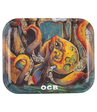 "OCB OCB 14"" x 11"""" Large Metal Rolling Tray - Max Vs Octopus v2"