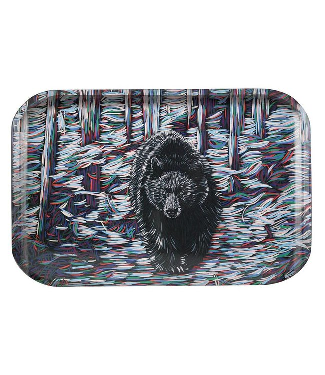 "OCB OCB 11"" x 7.5"" Medium Metal Rolling Tray - Bear"