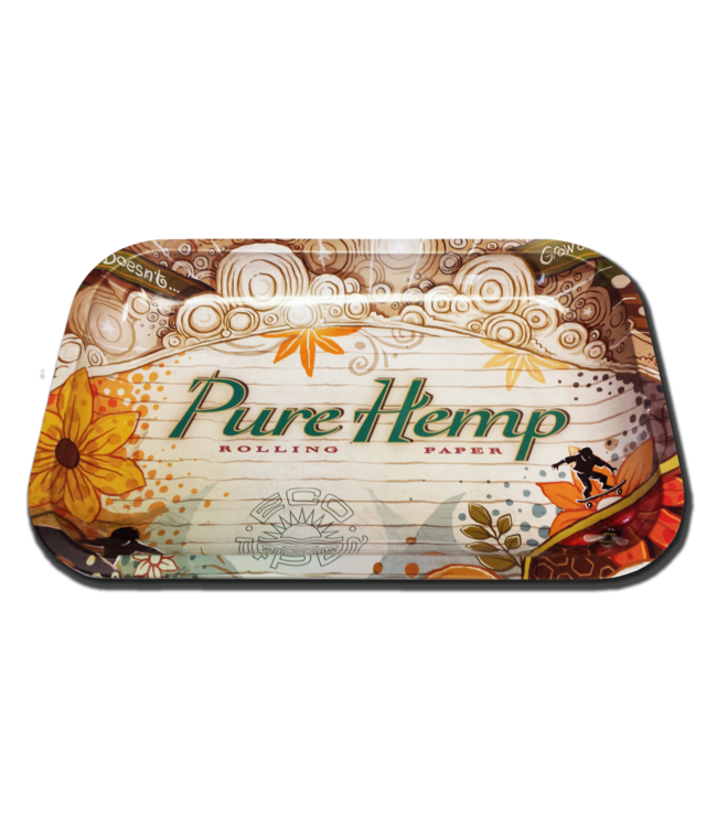 "Pure Hemp Pure Hemp Rolling Tray 11"" x 7"" – Small"