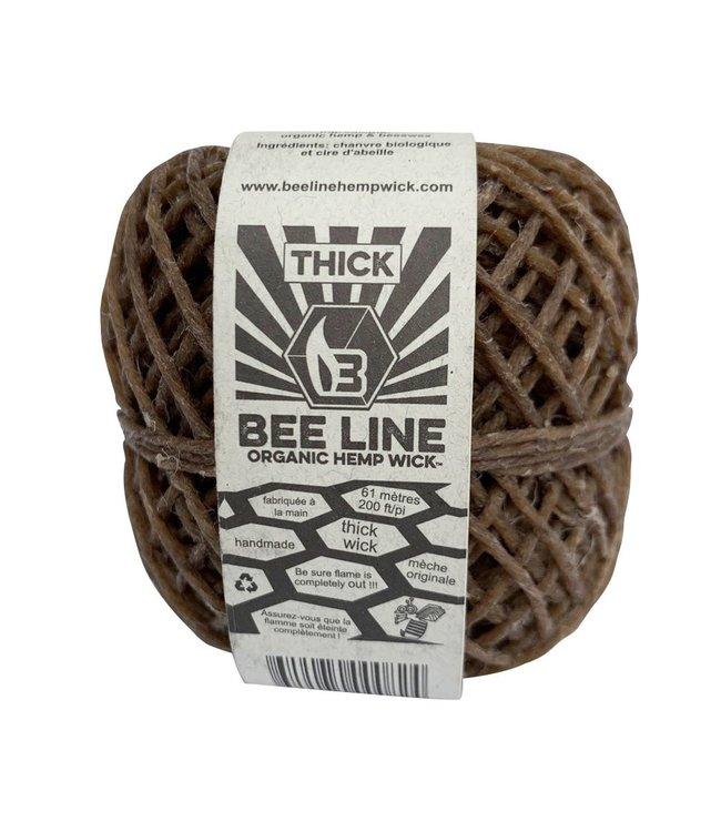 Bee Line Bee Line Organic Hemp Wick Thick Spool 200'