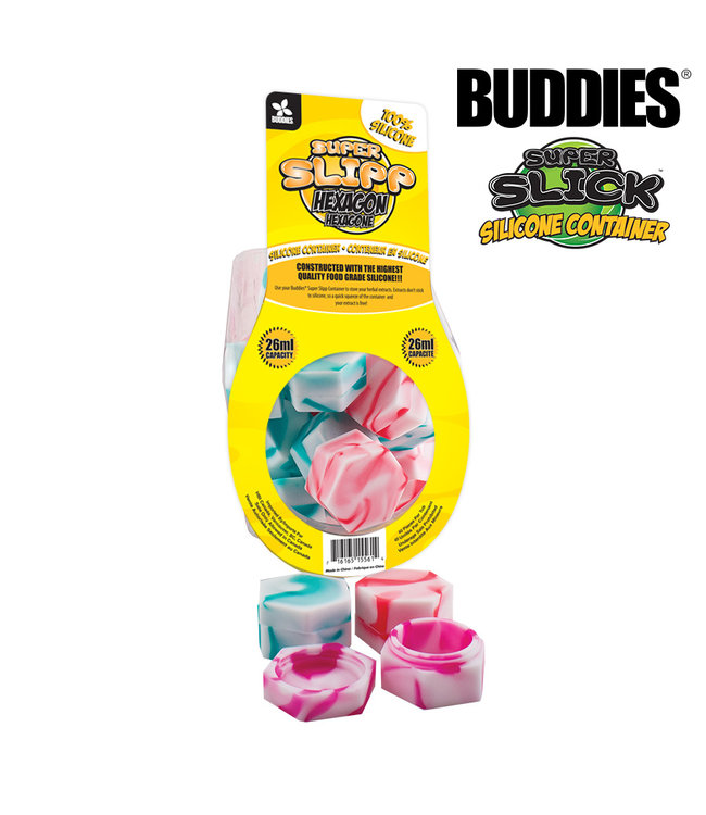 Buddies Buddies Super Slipp Hexagon Silicone Container 26ml