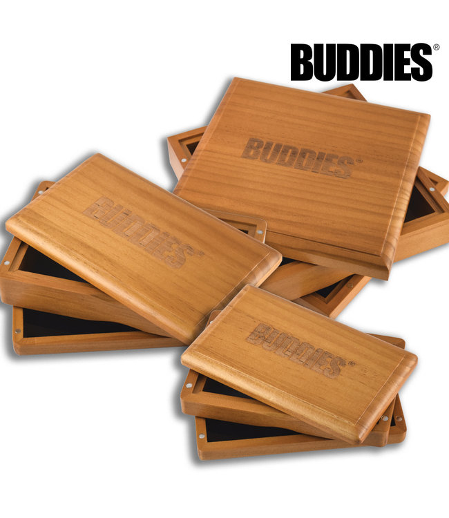 Buddies Buddies Sifter Box Stained Pine Small