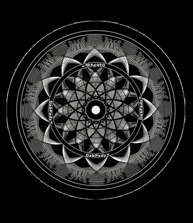 """DabPadz DabPadz 5"""" Round Black Lotus Fabric Top 1/4"""" Thick"""