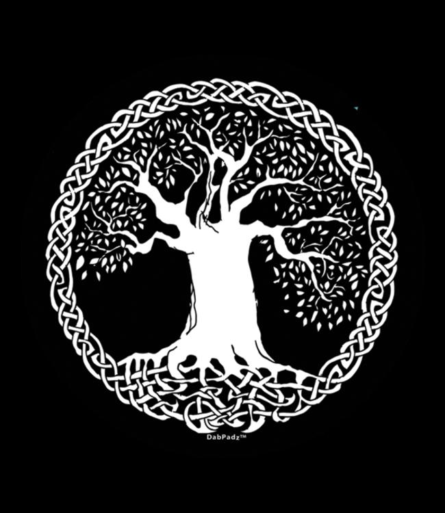 "DabPadz DabPadz 8"" Round Tree of Life Fabric Top 1/4"" Thick"