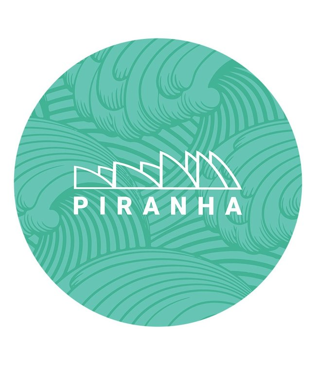 "DabPadz DabPadz 8"" Round Fabric Top 1/4"" Thick - Piranha"