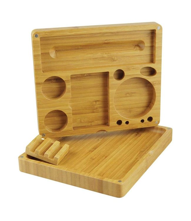 Grindhouse Grindhouse 2-piece Bamboo Rolling Tray w/ Storage