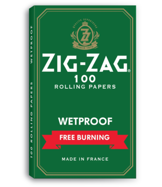 Zig Zag Zig Zag Kut Corners Green Wetproof Burn