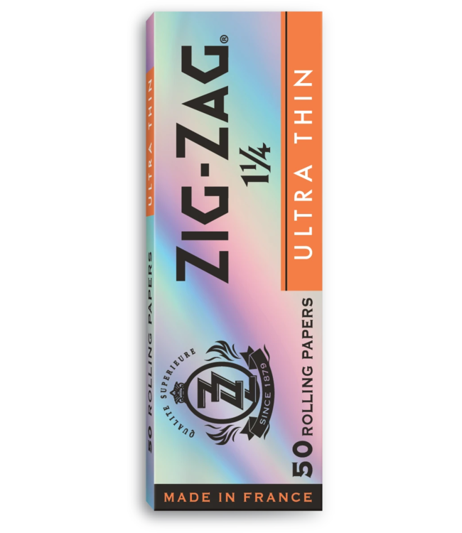 Zig Zag Zig Zag Ultra Thin Silver Slow Burn 1 1/4