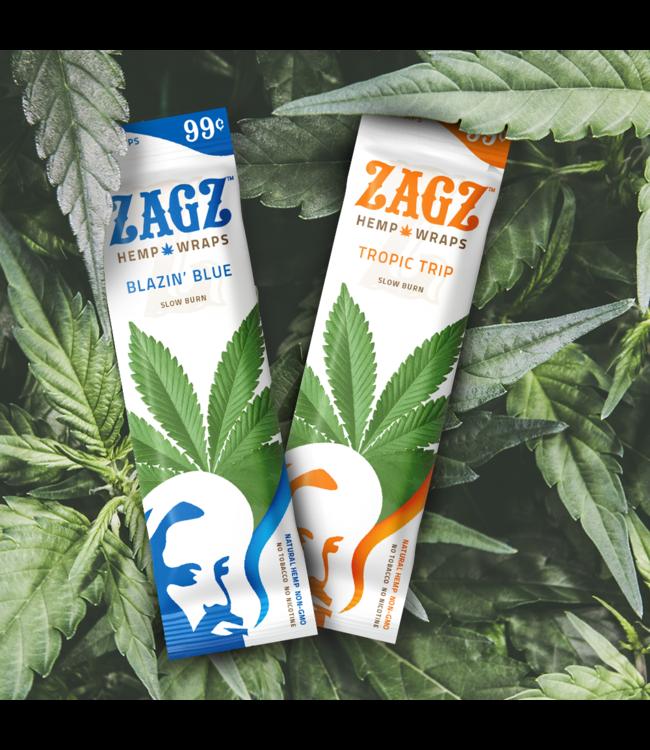 """Zig Zag Zig Zag """"Zagz"""" Hemp Wraps 1.25"""" 2-Pack"""