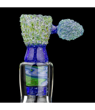 Soul Masta Glass Soul Masta Glass 18mm 4-Hole Nug Bowl Blue Ox [SM03]