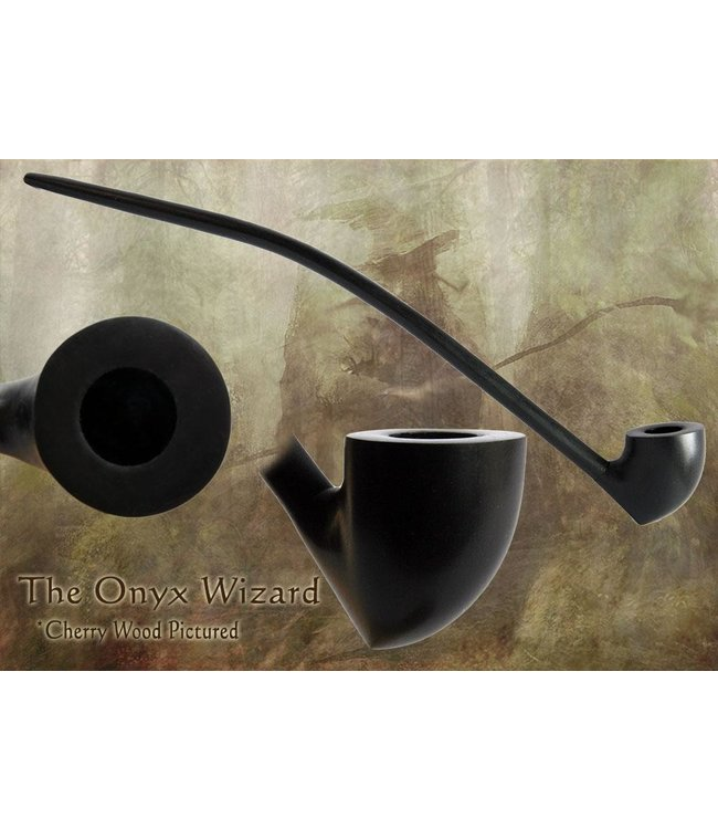 """MacQueen Pipes MacQueen Pipes 15"""" Onyx Wizard Pipe Cherry"""