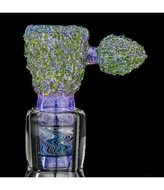 Soul Masta Glass Soul Masta Glass 14mm 4-Hole Nug Bowl Blue Ox [SM10]