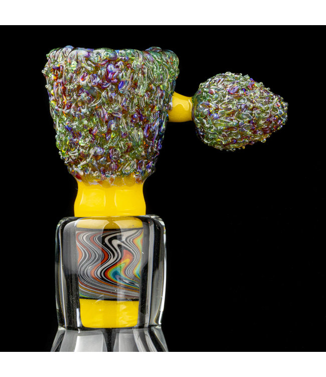 Soul Masta Glass Soul Masta Glass 14mm 4-Hole Nug Bowl Purple Cookie [SM09]