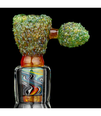 Soul Masta Glass Soul Masta Glass 14mm 4-Hole Nug Bowl OJ Kush [SM08]