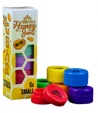 GEAR Premium GEAR Premium Silicone Honey Jars Small Glow-in-the-Dark 6-Pack