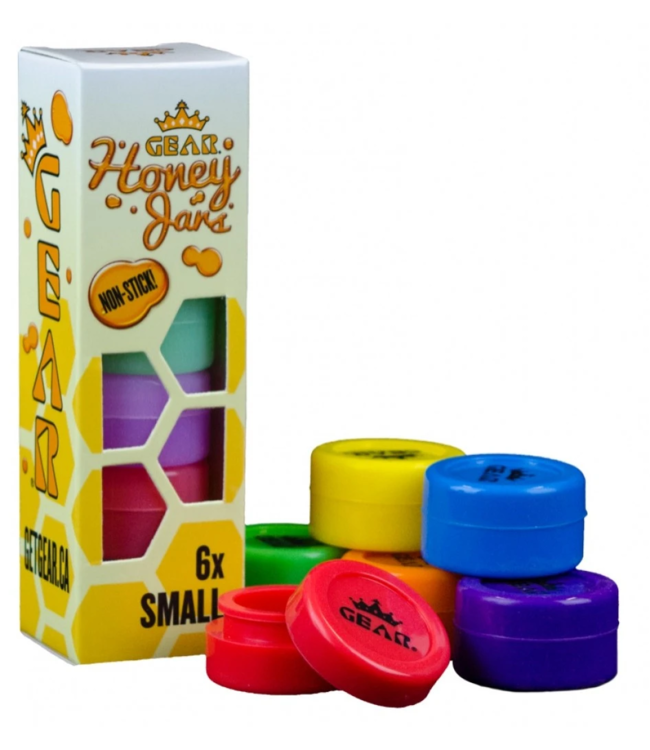 GEAR Premium GEAR Premium Silicone Honey Jars Small Glow-in-the-Dark 6-Pack