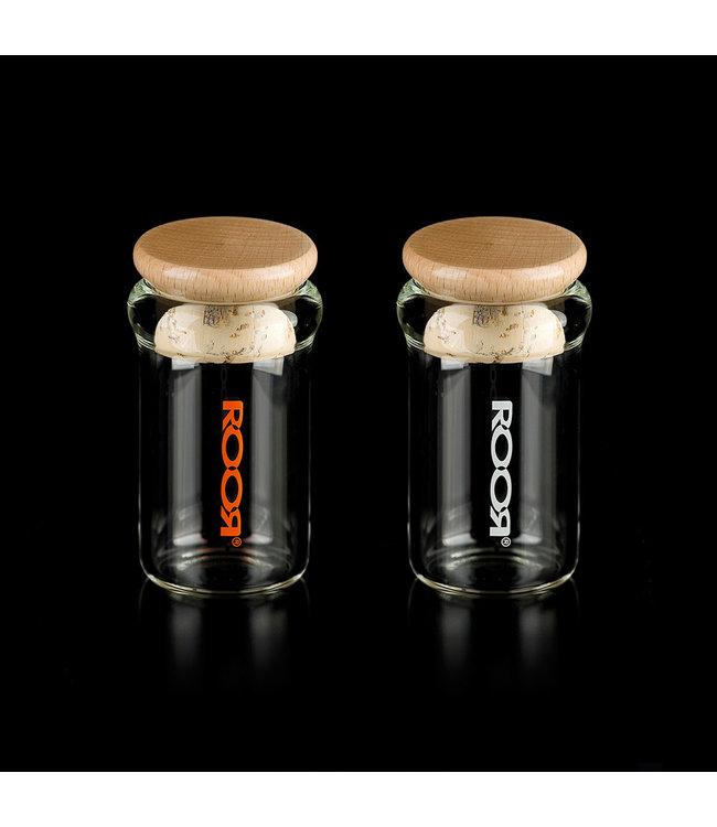 ROOR ROOR Glass Jar w/ Wood/Cork Lid