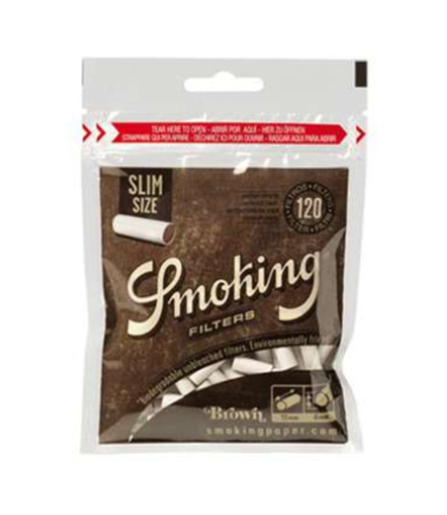 Smoking Smoking Brown Biodegradable Filters - Slim 120pk