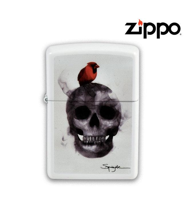 Zippo Lighter White Matte Spazuk Design