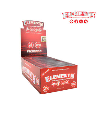 Elements Elements Red Hemp Papers Single Wide (Box of 25)
