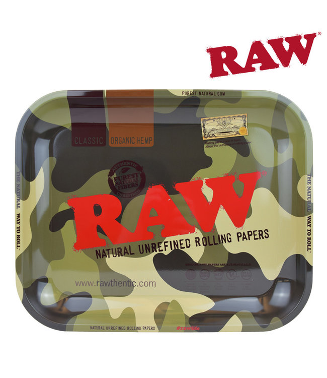 RAW RAW Camo Rolling Tray Large