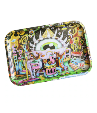 """Dunkees Rolling Tray 13"""" x 9"""" All Eyez on Me"""