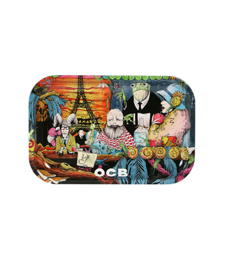"OCB OCB 11.5"" x 7.5"" Medium Metal Rolling Tray Café Culture"