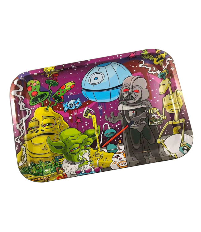 """Dunkees Rolling Tray 13"""" x 9"""" Dab Wars"""
