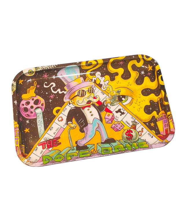 """Dunkees Rolling Tray 13"""" x 9"""" Dope Game"""