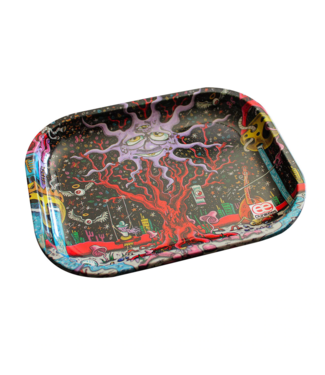 """Dunkees Dunkees Rolling Tray 5.5"""" x 7.5"""" Happy Tree"""