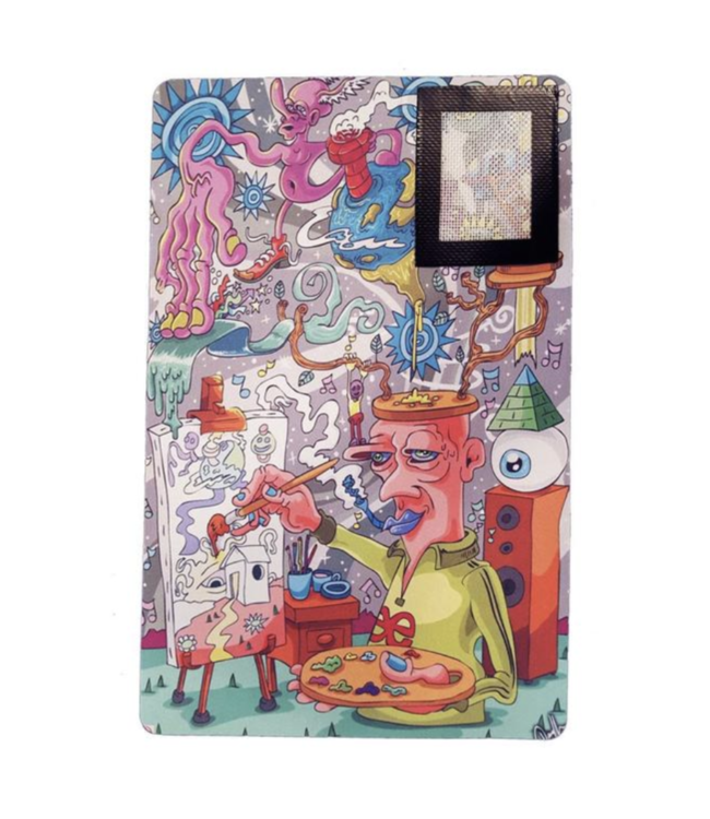 """Dunkees 16"""" x 10"""" Fabric Dab Mat w/ Silicone Mat - Imagination"""