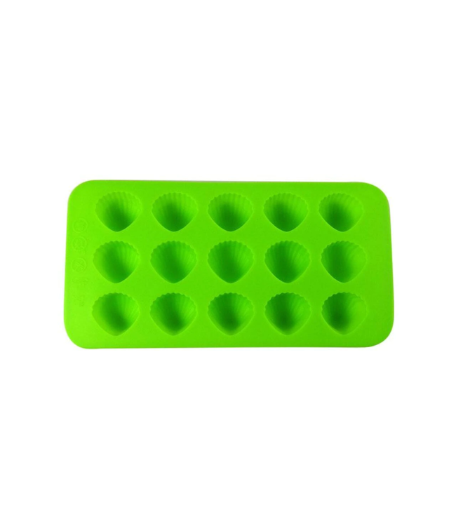 Dope Molds Dope Molds Silicone Gummy Mold 15 Cavity Sea Shells Green