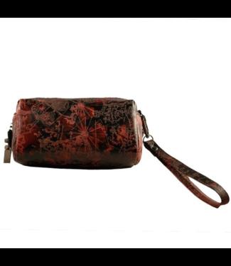"Erbanna Erbanna 6"" x 3.5"" x 2.25"" Smell Proof Clutch Bag - Jenny - Brown Leather"