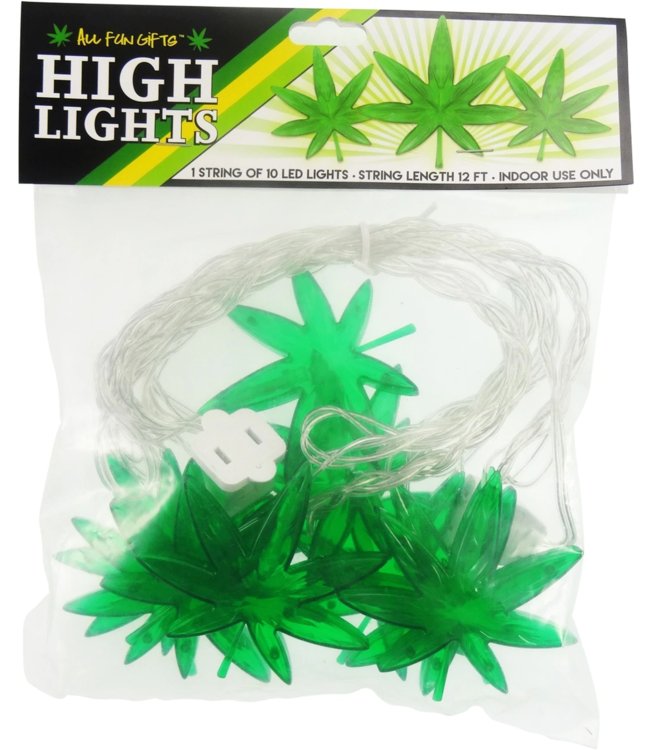 High Lights 12' String of 10 Leaf LED Lights