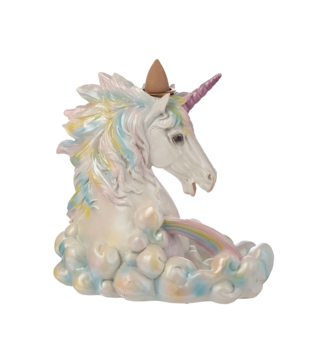 Rainbow Unicorn Backflow Cone Incense Burner