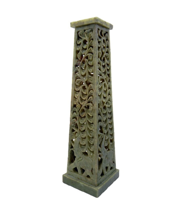 Soapstone Incense Tower Elephant