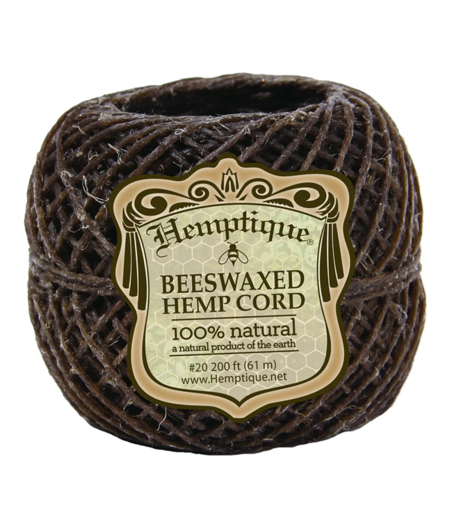 Hemptique Hemptique #20 Hemp Wick Natural 61m