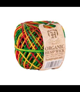Hemptique Hemptique Organic #20 Hemp Wick Rasta 30m