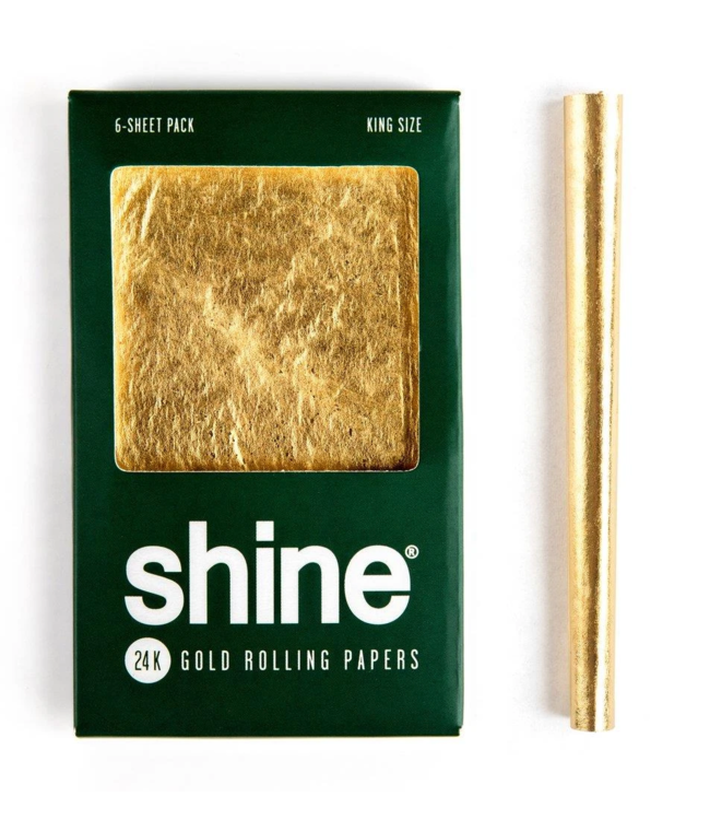 Shine 24k Gold Papers King Size 6-Pack