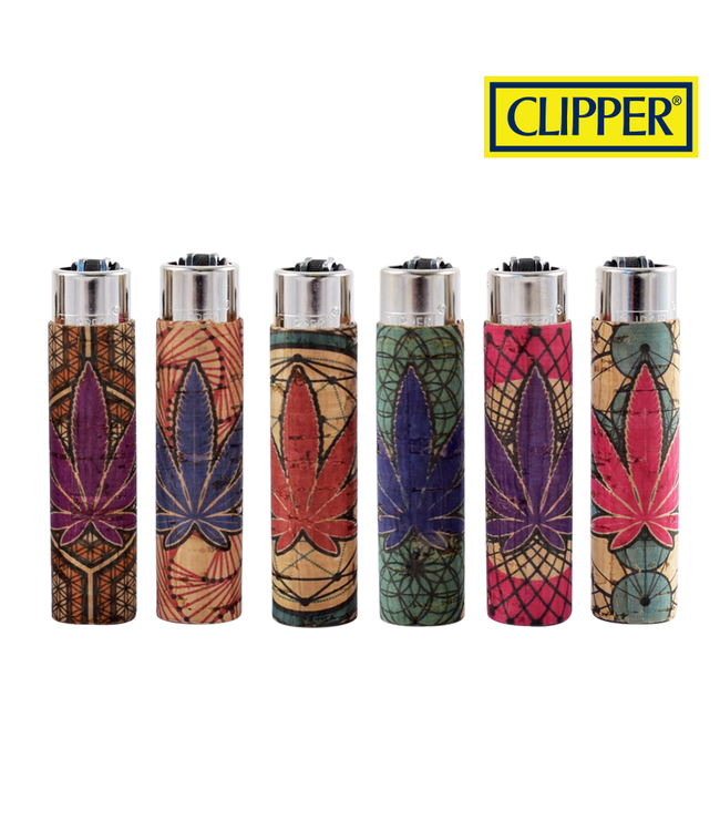 Clipper Clipper Cork w/ Leaf Cover Refillable Lighter (Style 15)