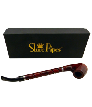 """Shire Pipes 10.5"""" Bent Brandy w/ Long Spiral Shanks Rosewood"""