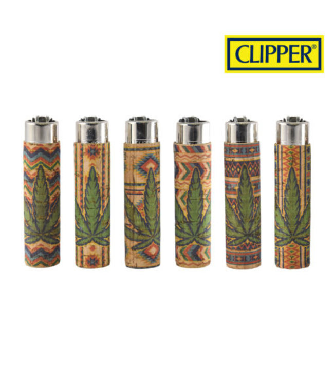 Clipper Clipper Cork w/ Leaf Cover Refillable Lighter (Style 7)