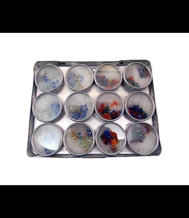 Glass Screens, Flower, 12-pack w/ Case