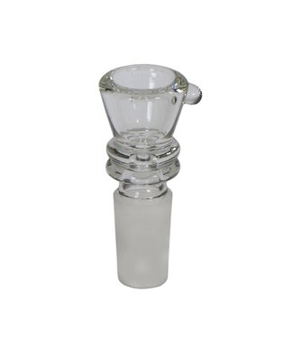 Clear Glass Funnel Bowl With Marias