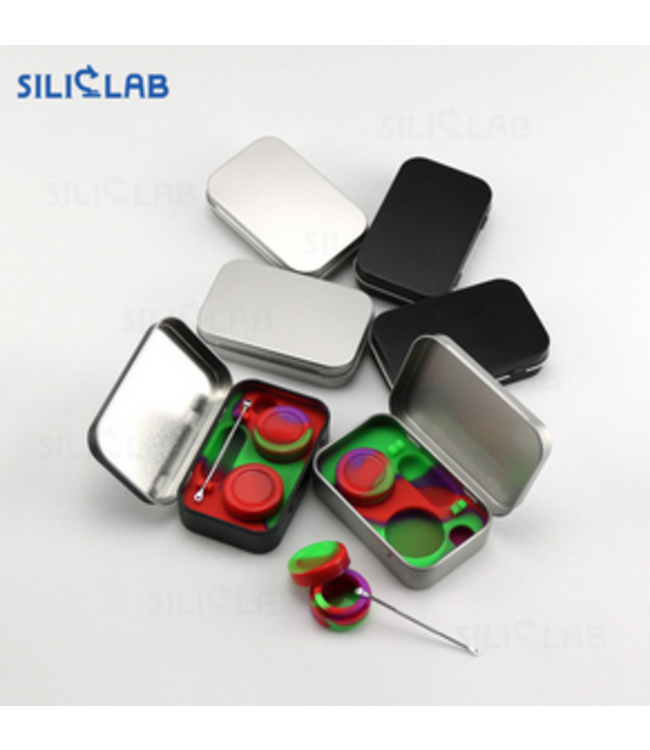SilicLab Tin Concentrate Case w/ Tool and Jars Black