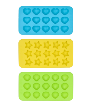 Dope Molds Silicone 3-Piece Mold Kit w/ Star, Heart & Shell Trays
