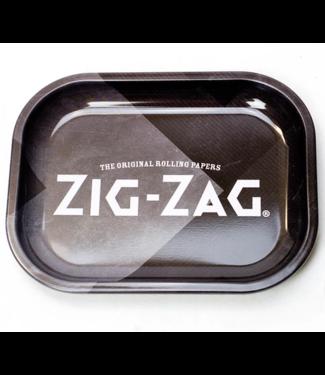 "Zig Zag Zig Zag Rolling Tray Black Small 7"" x 5.5"""